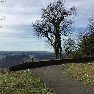 Point du vue proche du Mont Poupet