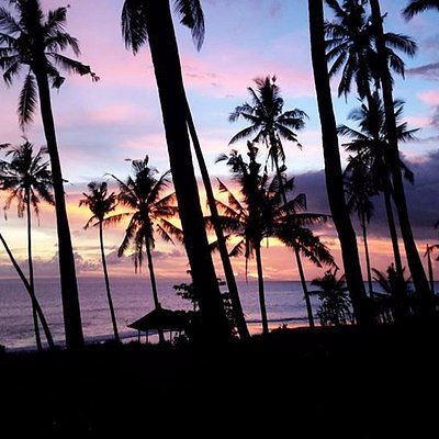 Balian beach sunset