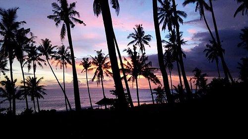 Balian beach sunset