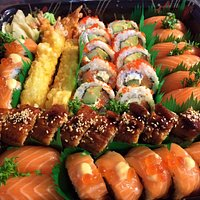Ebi Tempura, Unagi Sake Roll, Sake Eb Tempura Roll, Sake Nigiri, California Roll