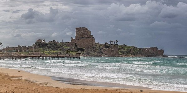 The view of the castle from shore