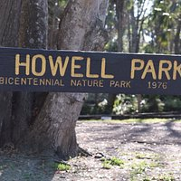 Howell Park - Main sign off the road