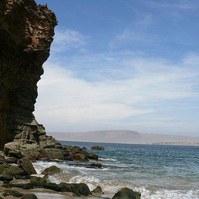 lado izquierdo de la playa