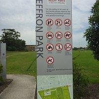 Heffron Park Cycle Track & Info Board