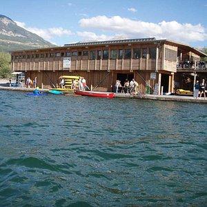 le Club de Kayak au plan d'eau d'Embrun