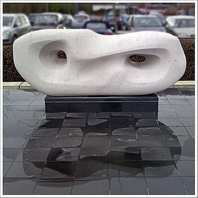 Hepworth Sculpture. Curved Reclining Form.
