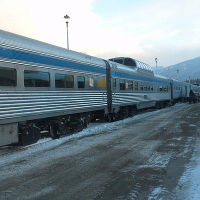 The Canadian -train that goes across Canada