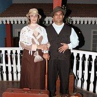 Giusepe E Ana recém chegados da Itália
