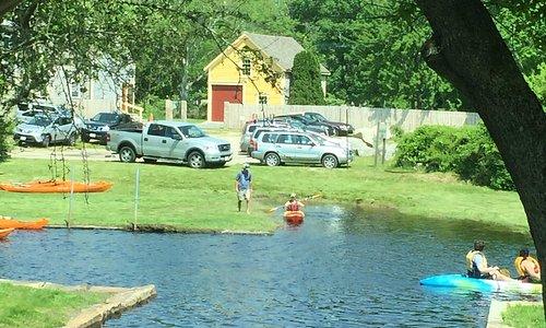 Osprey Sea Kayak view to the Westport River Landing launch areas