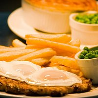 16oz Gammon, in the background Steak and Ale - Classics!