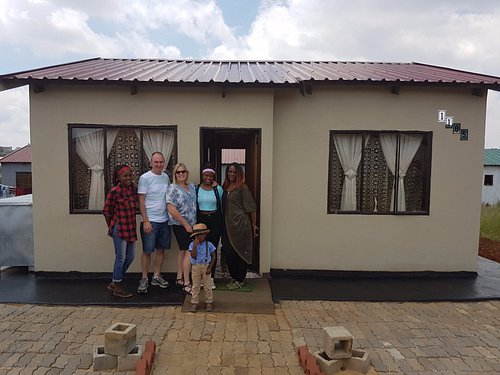 After lunch with a lovely zulu family in their new resettlement house