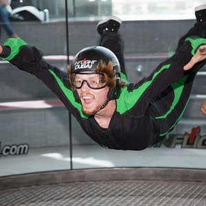 First time flyer at Inflight Dubai Indoor Skydiving