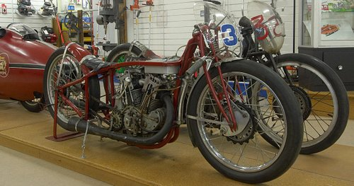 ORIGINAL 'World's Fastest Indian' 1920 Indian Scout on display in E Hayes showroom