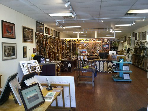 Old Town Frame Company features a gallery of local art and a full custom frame shop