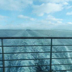 vue depuis le pont arriere