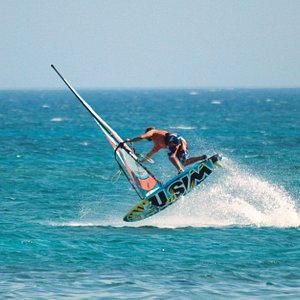 Windsurfing Action at elafonisi spot