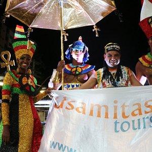 Usama Saber gestor da Usamitas Tours presente no carnaval do Olodum Salvador Brasil