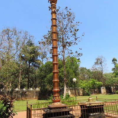 Sacred Pillar in the Temple Premises at the entrance of Lord Balaji Temple