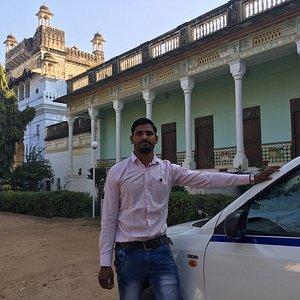 In a Neemrana hotel near Mandawa with Babu