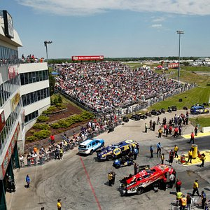View from on top of the tower during the 2016 NHRA Kansas Nationals
