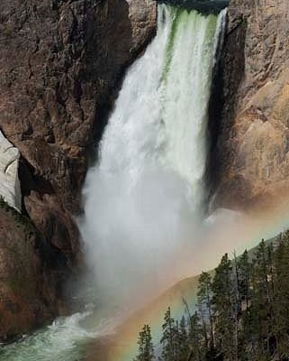 Lower Falls of the Yellowstone, late June