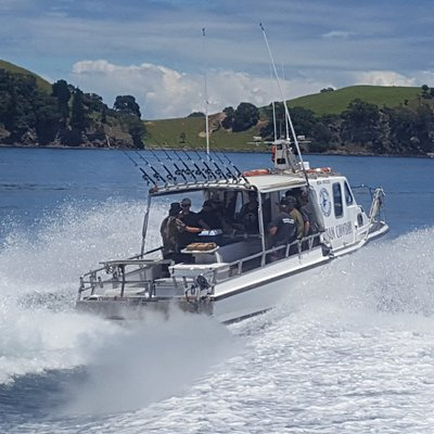 Our boat out for another trip in the beautiful Coromandel