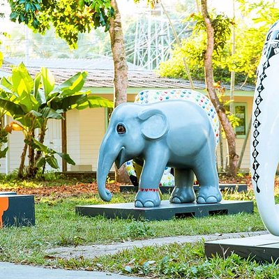 Little Mosha and these elephants are waiting for you at Elephant Parade land