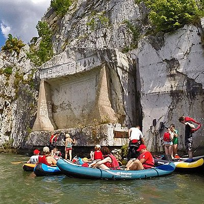Iron gate kayak adventure tour on Danube River