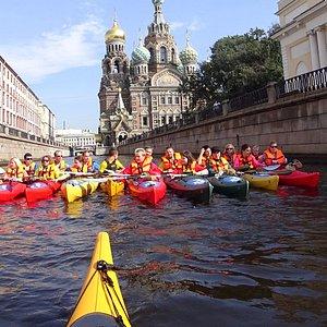 "Heart of St.Petersburg - orthodox cafedral ""Spas na krovi"" Sea kayak's journey"