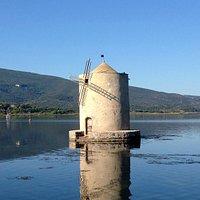 die berühmte Mühle in der LAgune