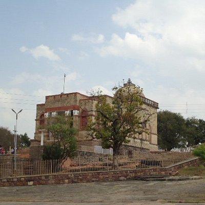 The Buddhist Vihar from the Sanchi Stupa side.