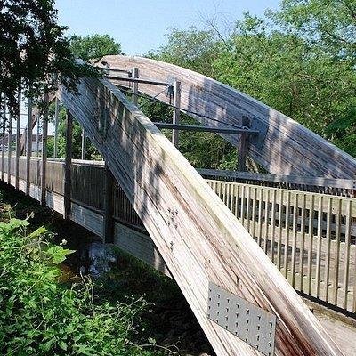 Tar River Greenway - Wooden suspension bridge