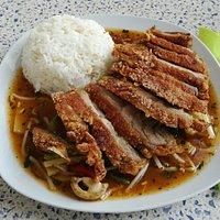 """Nr. 65 """"Knuspriges Entenfleisch mit Basilikum - Gemüse und spezielle Thai Gewürze(auf Wunsch sch"""