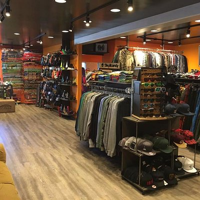 snowboards, skateboards, clothing, shoes and accessories, gear rentals and repairs