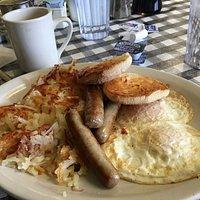 Plain breakfast done well.