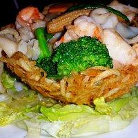 Seafood nest...delish!