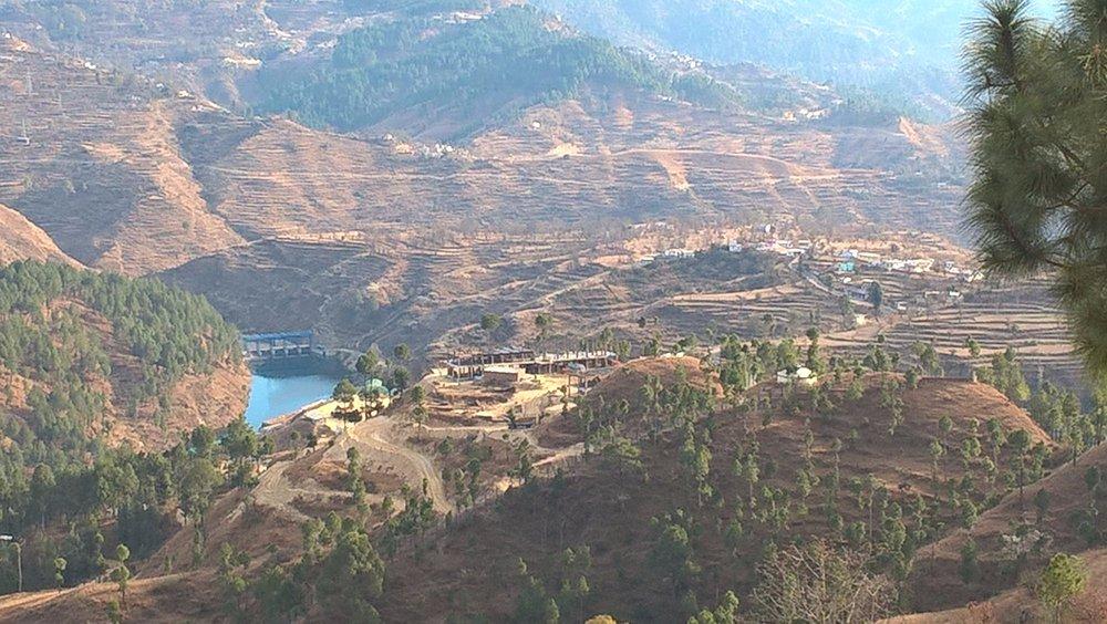 kosi dam & village