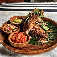 CRISPY DUCK WITH TRIO OF SAMBAL