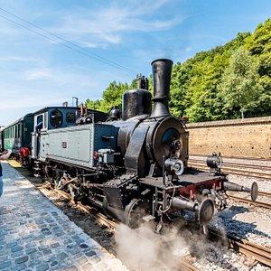 Le Train 1900 en gare au Fond-de-Gras