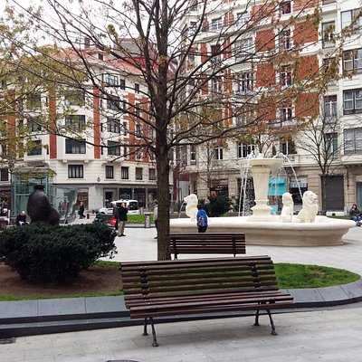 Vista general de la plaza