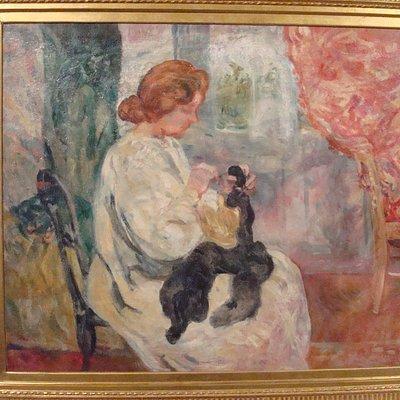 La Couseuse (ca. 1905) (Louis Valtat)