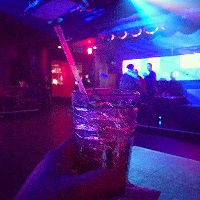 Raspberry Vodka and Redbull at CandiBar