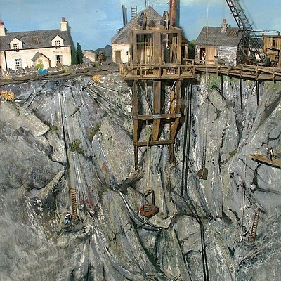 Model of a working Slate Quarry