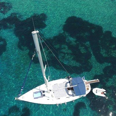 Sailing Aenao Best Sail Boat @ Skiathos