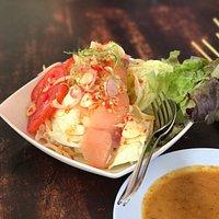 Delicious food with Thai taste