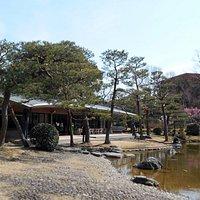 日本庭園から眺めた楽水亭