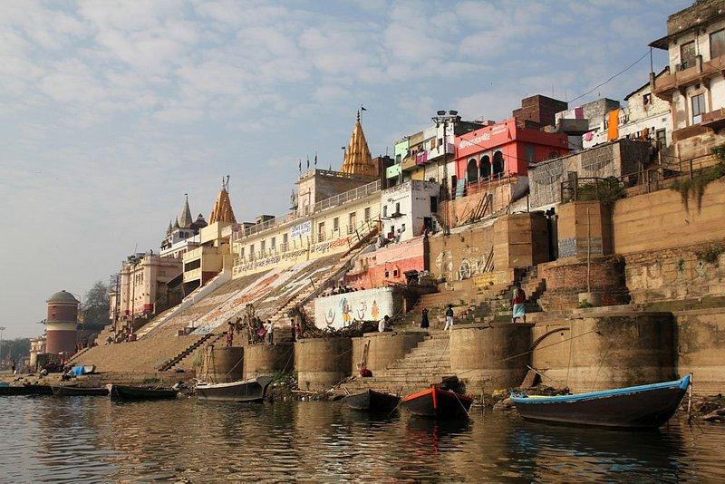 Early morning on Ganga river in Varanasi