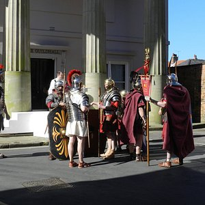 Another photo outside the Guildhall, Beverley Passion Play 2016