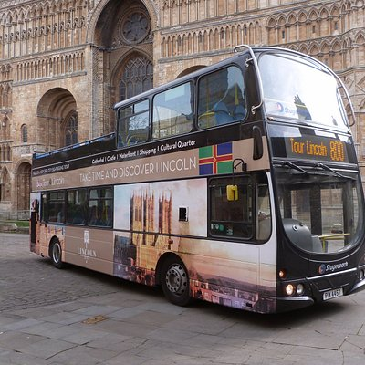 Open-top bus ready for 2017 tours.