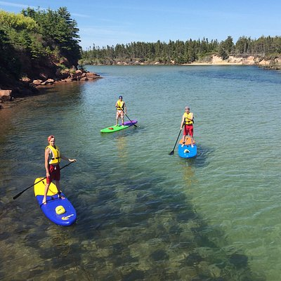 Basin Head Beach Provincial Park, Prince Edward Island. Clear warm waters for paddle boarding!